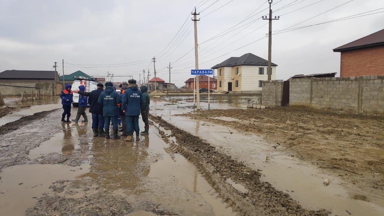 Подтопление улиц в на территории Новолакского района в н.п. Новокули .